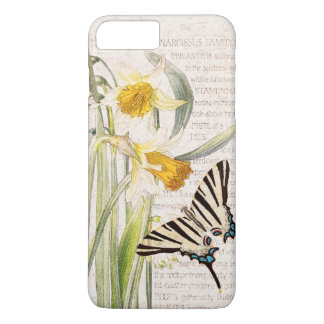 Vintage Butterfly Narcissus Flowers iPhone 7 Case
