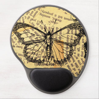 Vintage Butterfly on Paper Gel Mouse Pad