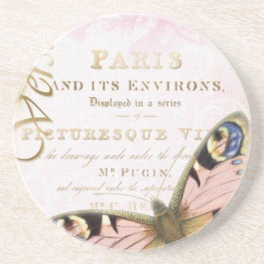 Vintage Butterfly Paris Coaster