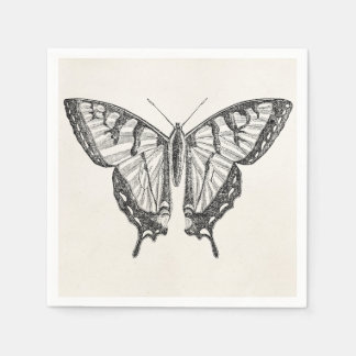 Vintage Butterfly Personalized Butterflies Insects Paper Napkins
