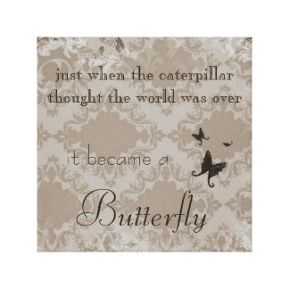 Vintage Butterfly Quote Canvas Print