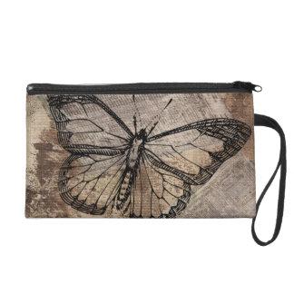 Vintage Butterfly Wristlet