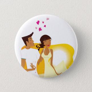 Vintage button : travel couple