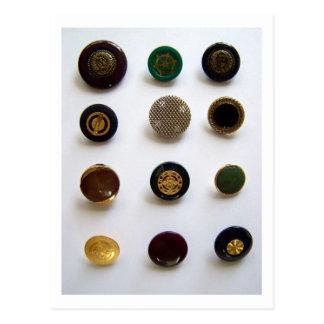 Vintage Buttons - Postcard