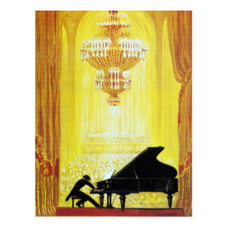 Vintage C. Bechstein German Piano Advertisement Postcard