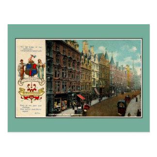 Vintage ca 1900 Birmingham Corporation Street Postcard