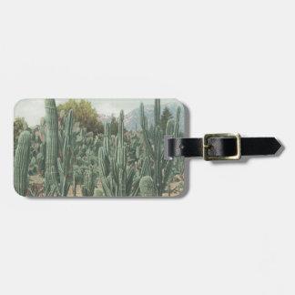 Vintage Cactus Luggage Tag