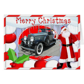 VINTAGE CADILLAC CHRISTMAS CARD