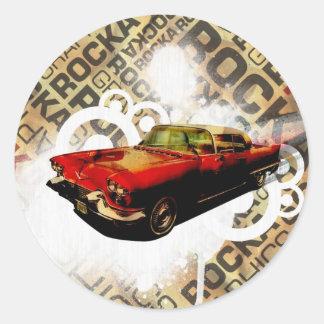Vintage Cadillac - Round Sticker