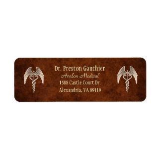 Vintage Caduceus Medical Symbol Address Labels