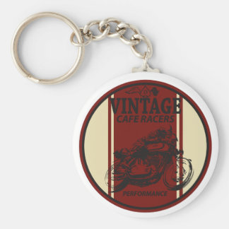 Vintage Cafe Racers Basic Round Button Keychain