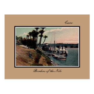 Vintage Cairo Egypt Borders of the Nile Postcard