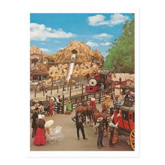Vintage Calico Square Postcard