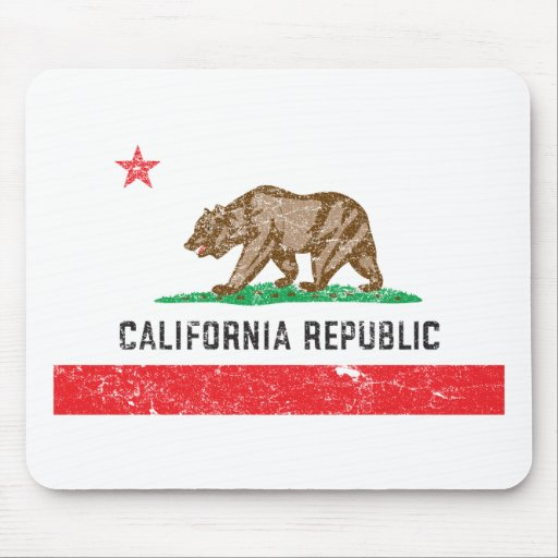 Vintage California Flag Mouse Pads