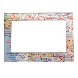 Vintage California Map Colorful USA Magnetic Frame