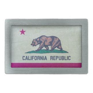 Vintage California Republic Flag Rectangular Belt Buckles