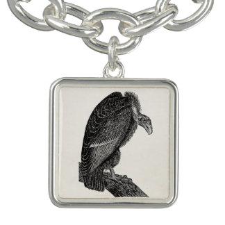 Vintage Californian Vulture Bird - Birds Template Charm Bracelet