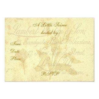 Vintage Calling Card Invitation