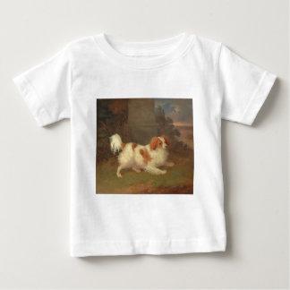 Vintage Calvalier King Charles Spaniel Painting Baby T-Shirt