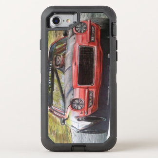 Vintage camaro drawing phone OtterBox defender iPhone 8/7 case