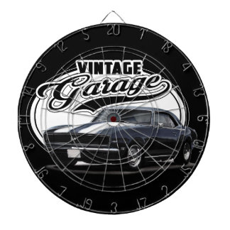 Vintage Camaro Garage Dartboard