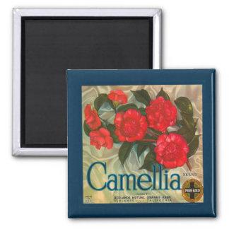 Vintage Camellia Brand Magnet