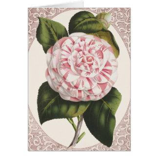 Vintage Camellia Elegant Thank You Card