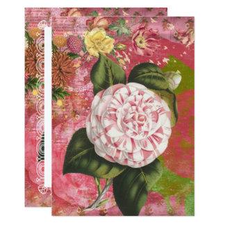 Vintage Camellia Floral 65th Birthday Brunch Card