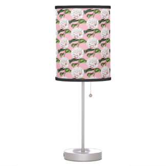 Vintage Camellia Floral Table Lamp