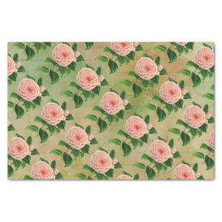 Vintage Camellia French Botanical Tissue Paper