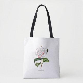 Vintage Camellia Reusable Shopping Tote