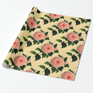 Vintage  camellia wrapping paper