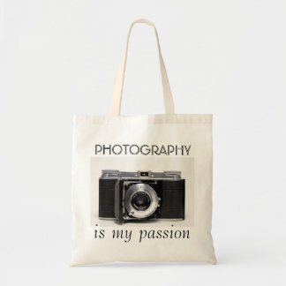 VINTAGE CAMERA 05 Photography is my Passion Bag