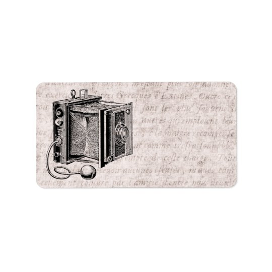 Vintage Camera - Antique Cameras Photography Label