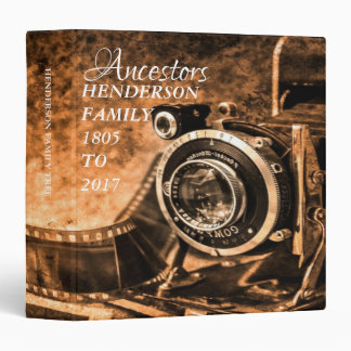 Vintage Camera Genealogy Family Photo Album Binder