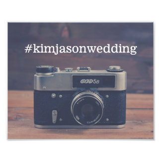 Vintage Camera Instagram Wedding Sign