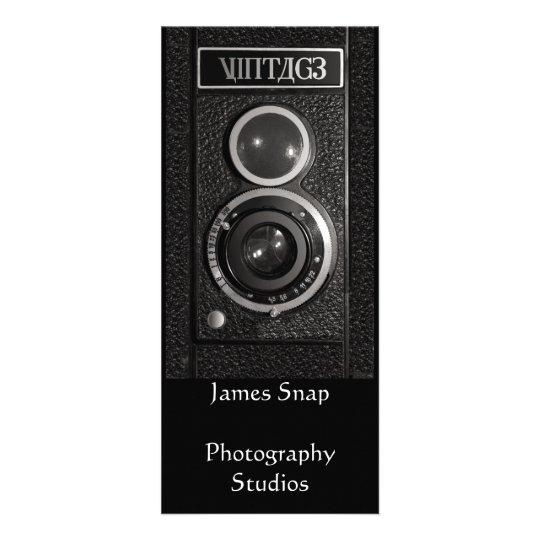Vintage Camera Lens Photographers Promotional Card Rack Cards