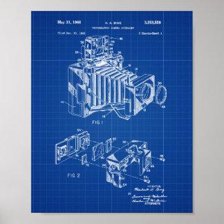 Vintage Camera Patent Poster Blueprint Background