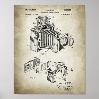 Vintage Camera Patent Poster Vintage Paper