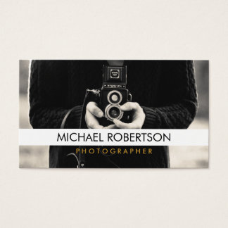 Vintage Camera Photographer Business Card