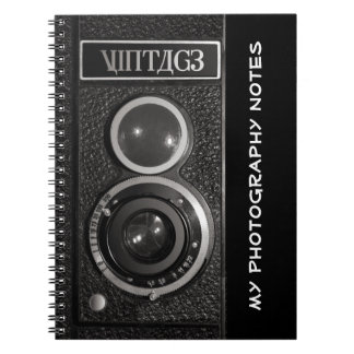 Vintage Camera Photographers Notebook