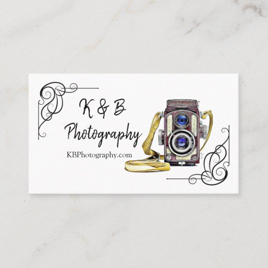 Vintage camera photography business card zazzle vintage camera photography business card reheart Choice Image