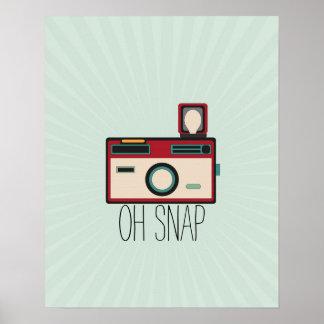 Vintage Camera Retro Look Oh Snap Poster