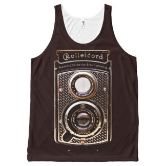 Vintage camera rolleicord art deco All-Over-Print tank top