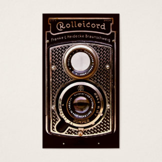 Vintage camera rolleicord art deco business card