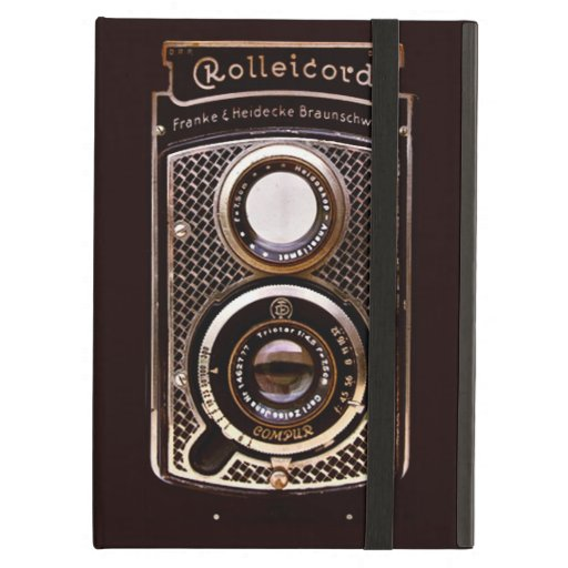Vintage camera rolleicord art deco case for iPad air