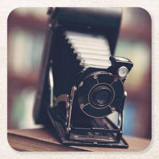 Vintage Camera Square Paper Coaster