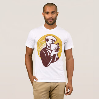 Vintage Cameraman Mens T-Shirt