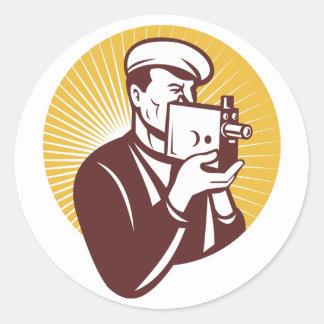 Vintage Cameraman Stickers
