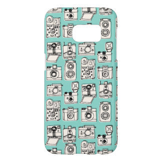 Vintage Cameras - Pale Turquoise / Andrea Lauren Samsung Galaxy S7 Case